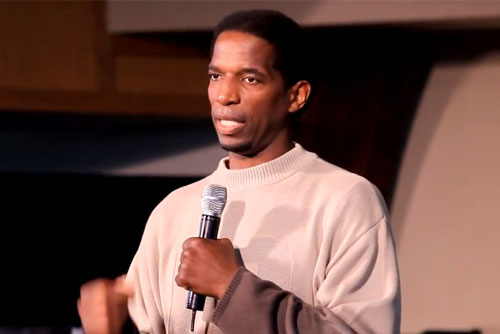 Former LA Lakers star, A.C. Green, speaks about Christ At Knott Avenue Christian Church April 2014