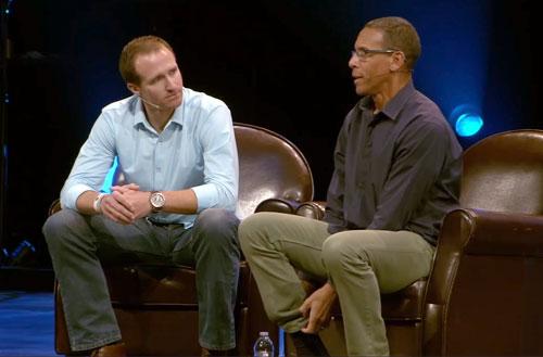 drew-brees-speaking-with-pastor-miles-mcpherson